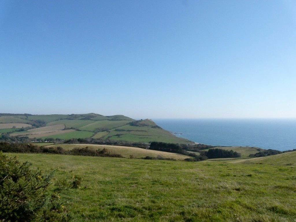 View along the Jurassic Coast